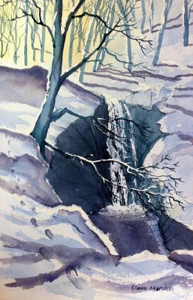 Painting - Winter Falls by Glenn Marshall