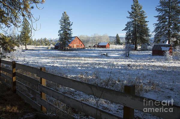 Wall Art - Photograph - Winter Farm by Idaho Scenic Images Linda Lantzy