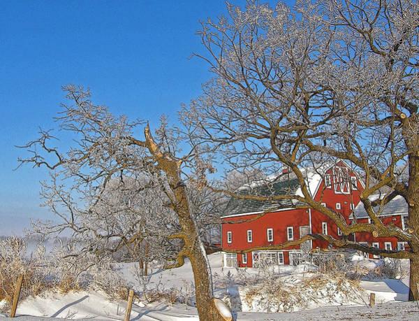 Rockville Photograph - Winter Farm by Jodi Pflepsen
