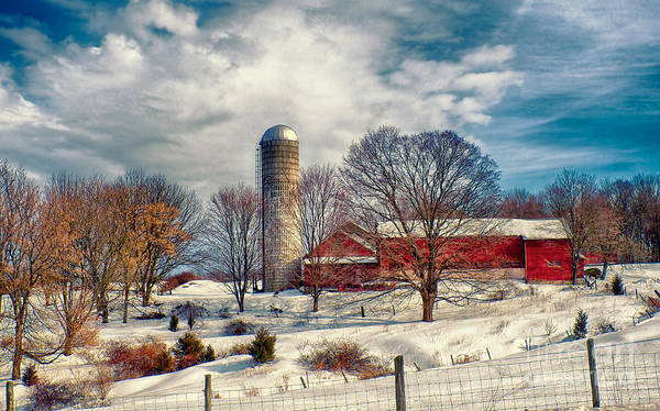 Photograph - Winter Farm by Mark Miller