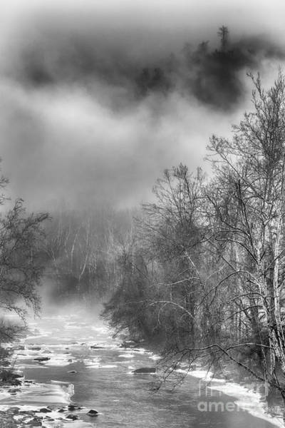 Photograph - Winter Fog Cherry River by Thomas R Fletcher