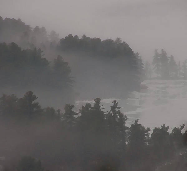 Photograph - Winter Fog In Melvin Bay by Brenda Jacobs
