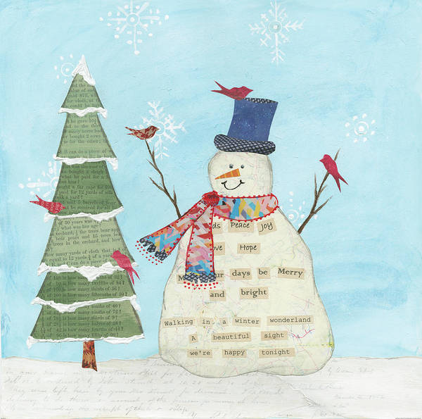 Peace And Love Painting - Winter Fun II by Courtney Prahl