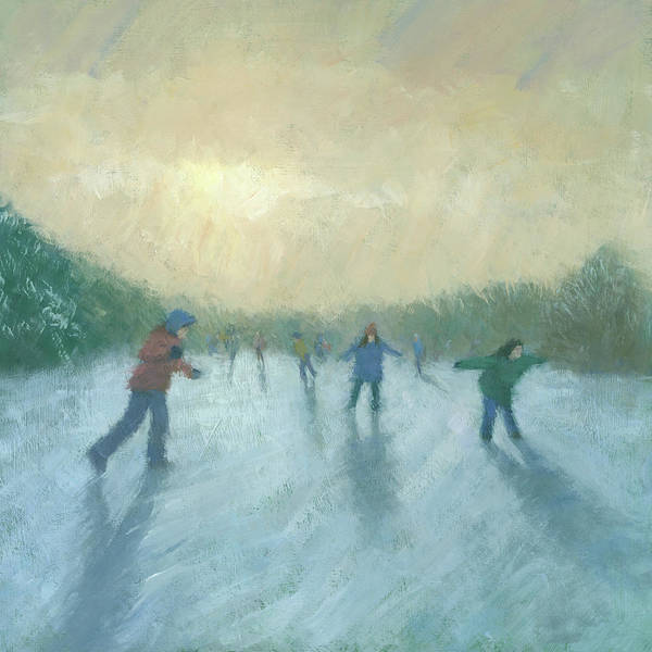 Winter Landscape Wall Art - Painting - Winter Games by Steve Mitchell