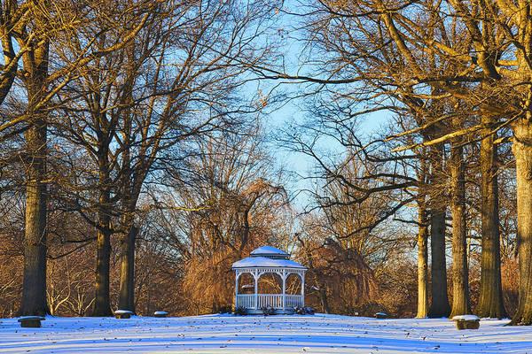 Photograph - Winter Gazebo by Alice Gipson