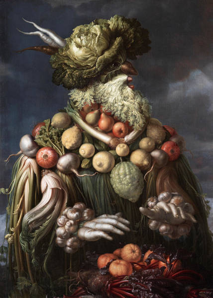 Potato Painting - Winter by Giovanni Stanchi