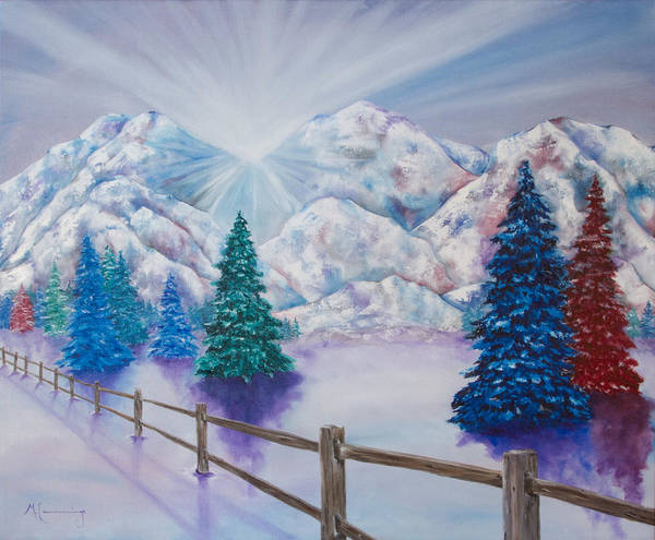 Painting - Winter Glow by Melinda Cummings