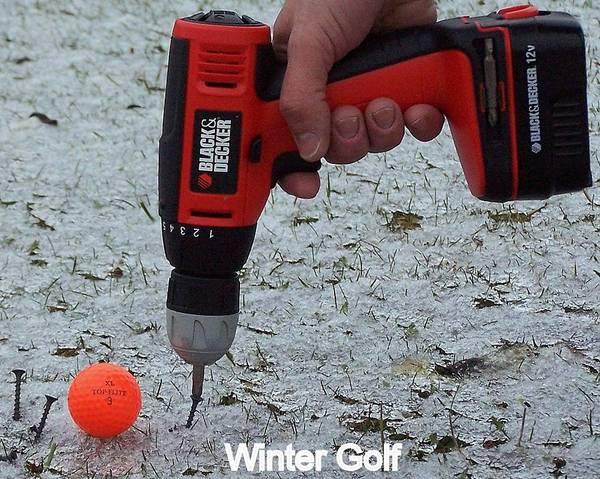 Hogan Photograph - Winter Golf by Frozen in Time Fine Art Photography