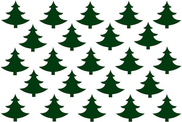 Christmas Digital Art - Winter Green Christmas Tree by Chastity Hoff