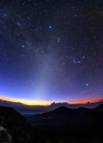 Haleakala Crater Photograph - Winter Hexagon Over Maui by Babak Tafreshi