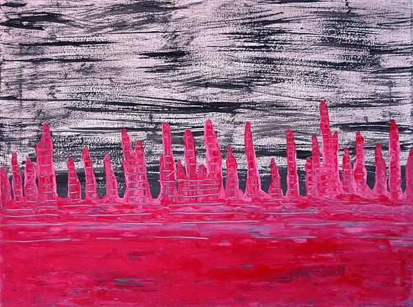 Painting - Winter Hoodoos Original Painting by Sol Luckman