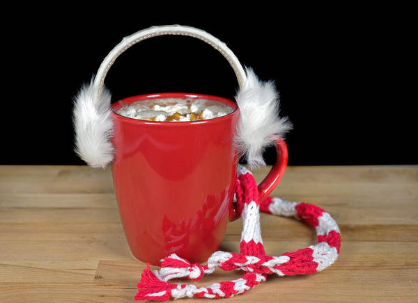 Ear Muffs Photograph - Winter Hot Chocolate by Maria Dryfhout