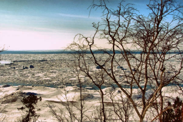 Photograph - Winter Ice On Lake Michigan by Michelle Calkins