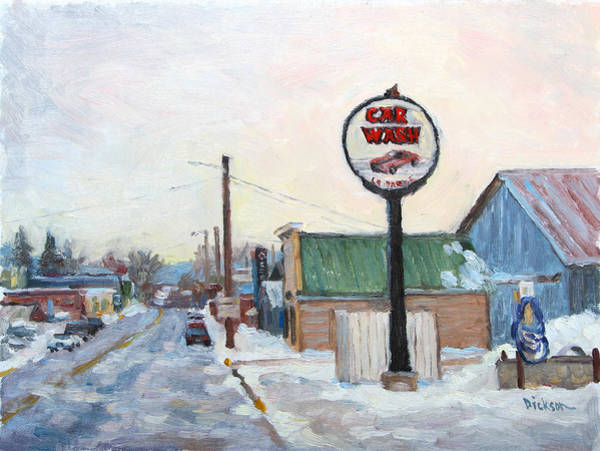 Painting - Winter In La Farge by Jeff Dickson