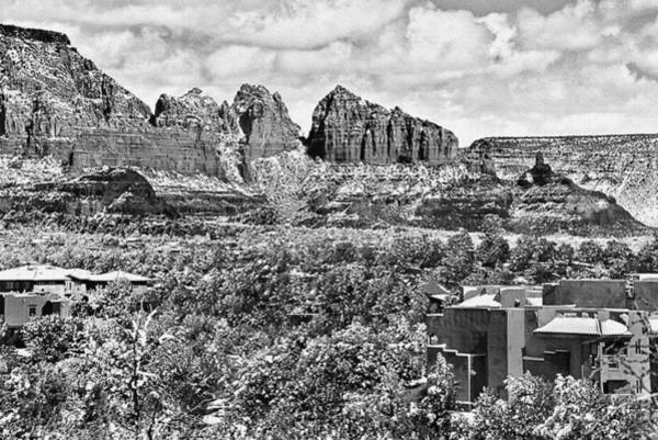 Digital Art - Winter In Sedona Arizona by Bob and Nadine Johnston