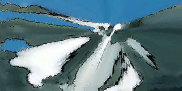 Digital Art - Winter In The Mountains by Ben and Raisa Gertsberg