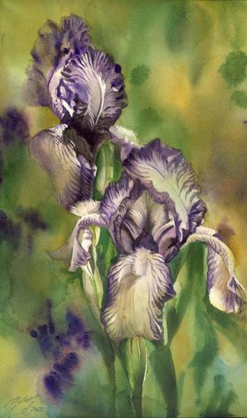 Painting - Winter Iris by Alfred Ng