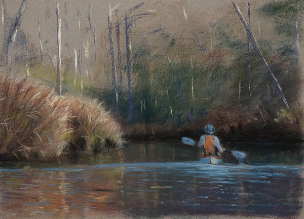 Painting - Winter Kayaker by Christopher Reid