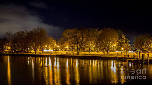 Photograph - Winter Lakeshore At Night by Rod Best