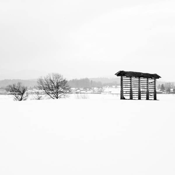 Wall Art - Photograph - Winter Landscape In Black And White by Ian Middleton