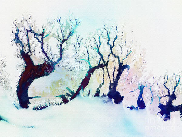 Fractal Landscape Digital Art - Winter Landscape by Klara Acel