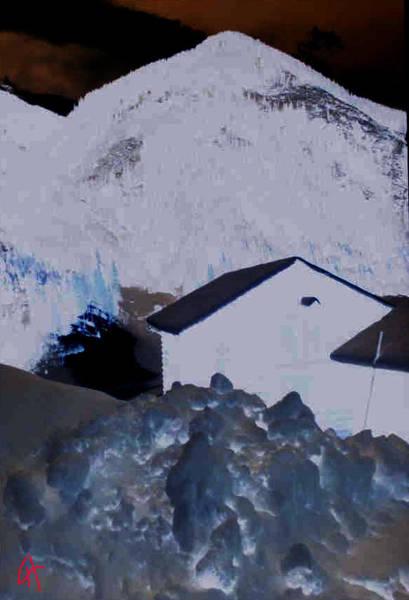 Painting - Winter Life Austrian Mountain  by Colette V Hera  Guggenheim