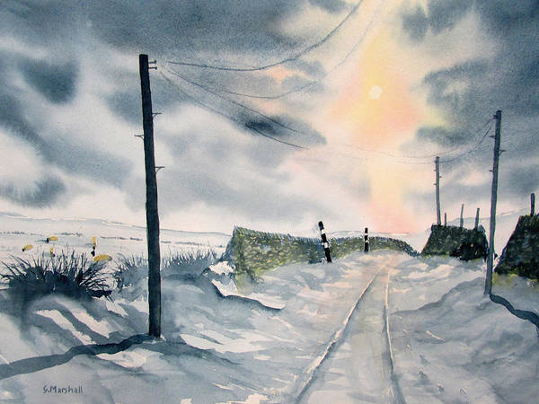 Painting - Winter Light On Westerdale by Glenn Marshall