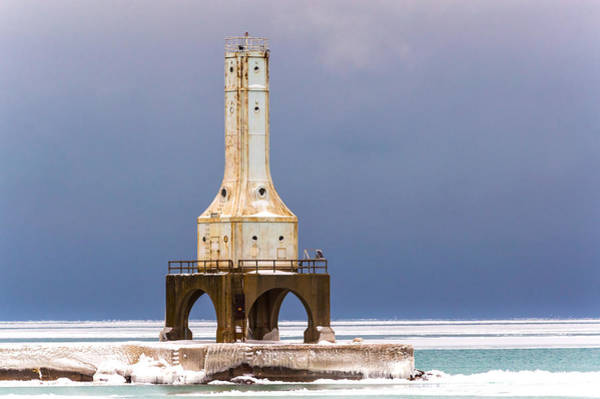 Photograph - Winter Lighthouse by James  Meyer