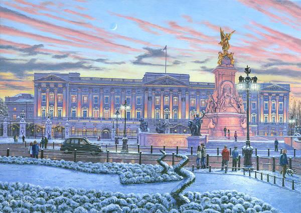 Golden Ratio Wall Art - Painting - Winter Lights Buckingham Palace by Richard Harpum