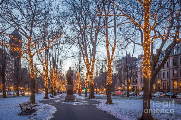 Photograph - Winter Lights On The Mall by Susan Cole Kelly