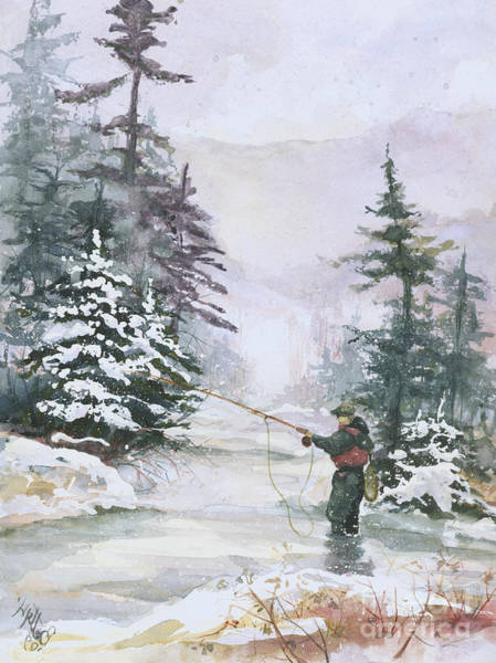 Mood Painting - Winter Magic by Elisabeta Hermann