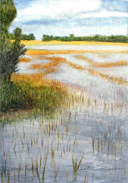 Painting - Winter Marsh  by Peter Senesac