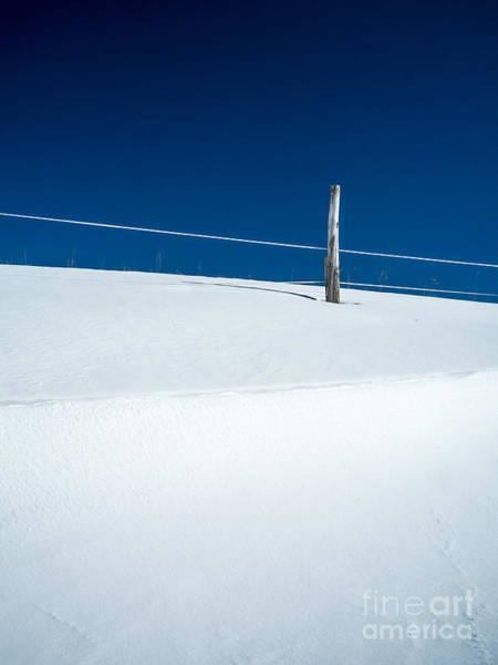 White Fence Photograph - Winter Minimalism by Edward Fielding