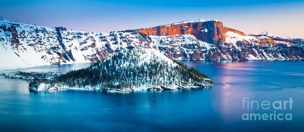 Volcanic Craters Photograph - Winter Morning At Crater Lake by Inge Johnsson