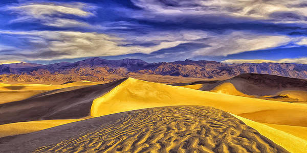 Sand Creek Painting - Winter Morning At Death Valley by Dominic Piperata