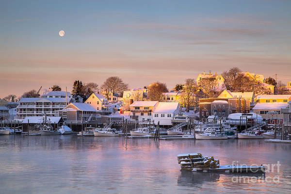 First Light Wall Art - Photograph - Winter Morning In Boothbay Harbor by Benjamin Williamson