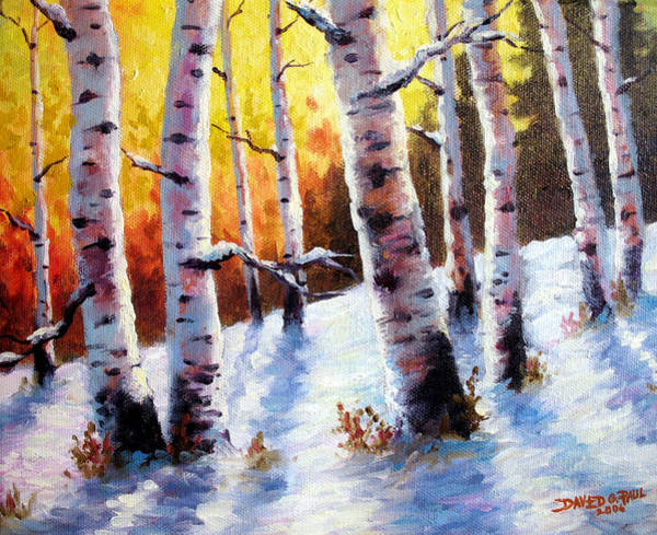 Wall Art - Painting - Winter Morning Light by David G Paul