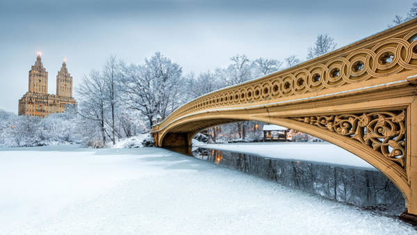 Photograph - Winter Morning With Bow Bridge by Mihai Andritoiu