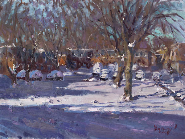 Wall Art - Painting - Winter Morning by Ylli Haruni