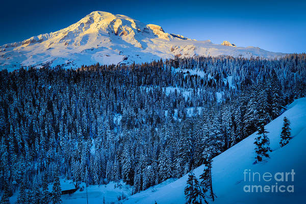 Snowshoe Photograph - Winter Mountain by Inge Johnsson