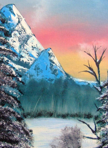Painting - Winter Mountain Twilight by Marianne NANA Betts