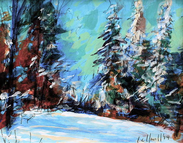 Painting - Winter Next Door by Les Leffingwell