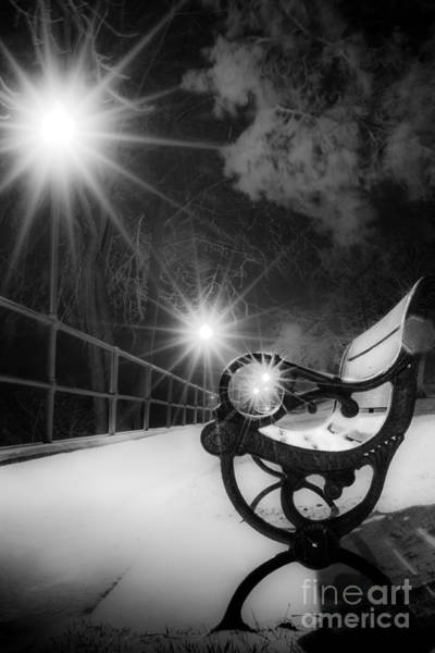 Photograph - Winter Night Along The River by Michael Arend