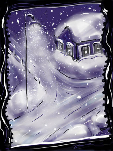 Painting - Winter Night by Jean Pacheco Ravinski