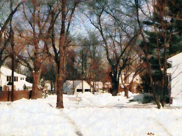 Photograph - Winter On My Street by Susan Savad