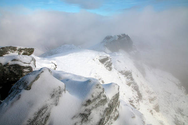 The Trossachs Wall Art - Photograph - Winter On Summit Of The Cobbler Ben by Feargus Cooney