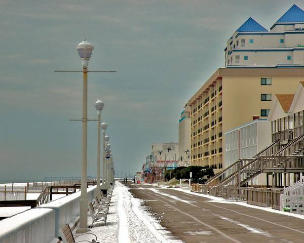 Photograph - Winter On The Boardwalk In Ocean City Maryland by Kim Bemis