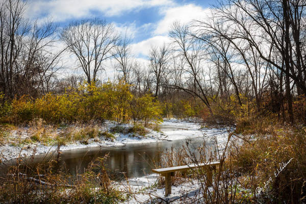 Photograph - Winter Oxbow by Edward Peterson