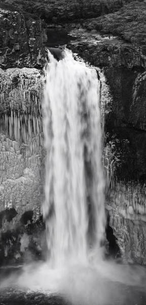 Plunge Photograph - Winter Palouse Falls Vertical by Mark Kiver