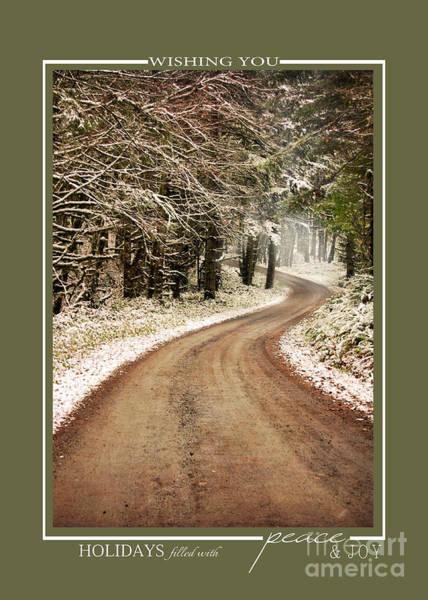 Photograph - Winter Path Scenic Landscape Christmas Cards by Jai Johnson